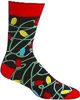 Sock It to Me Tangled Christmas Lights Mens Crew Sock