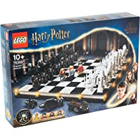 LEGO 76392 Harry Potter Hogwarts Wizard's Chess Set & Board Game Toy, with 20th Anniversary Collectible Golden…