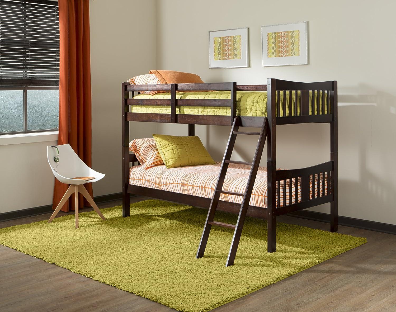 Amazon.com: Storkcraft Caribou Solid Hardwood Twin Bunk Bed, Espresso: Baby