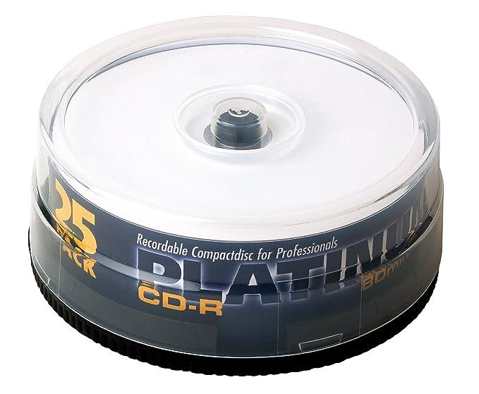 Bestmedia Platinum Printable CD-R, 25 per CakeBox, 700 MB ...
