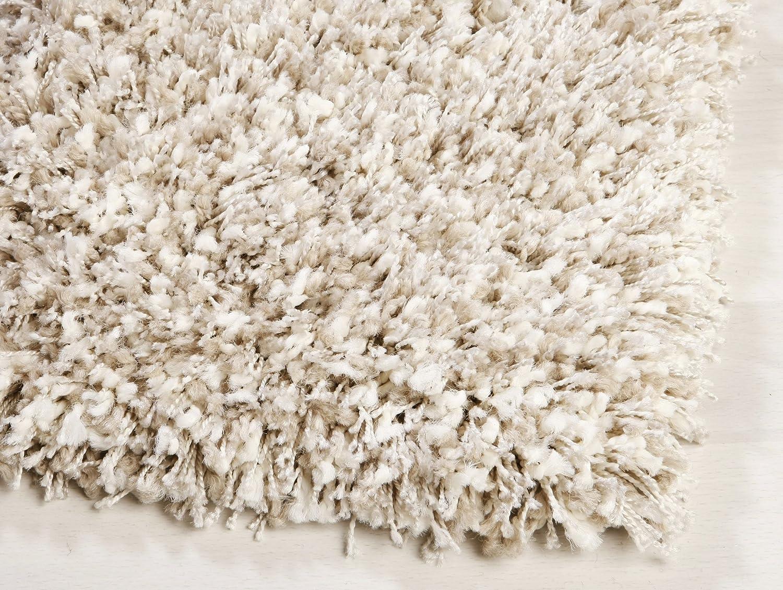 Ragolle Twilight Shaggy Teppich aus Belgien (2211 weiss beige, (7) 160x230 cm)