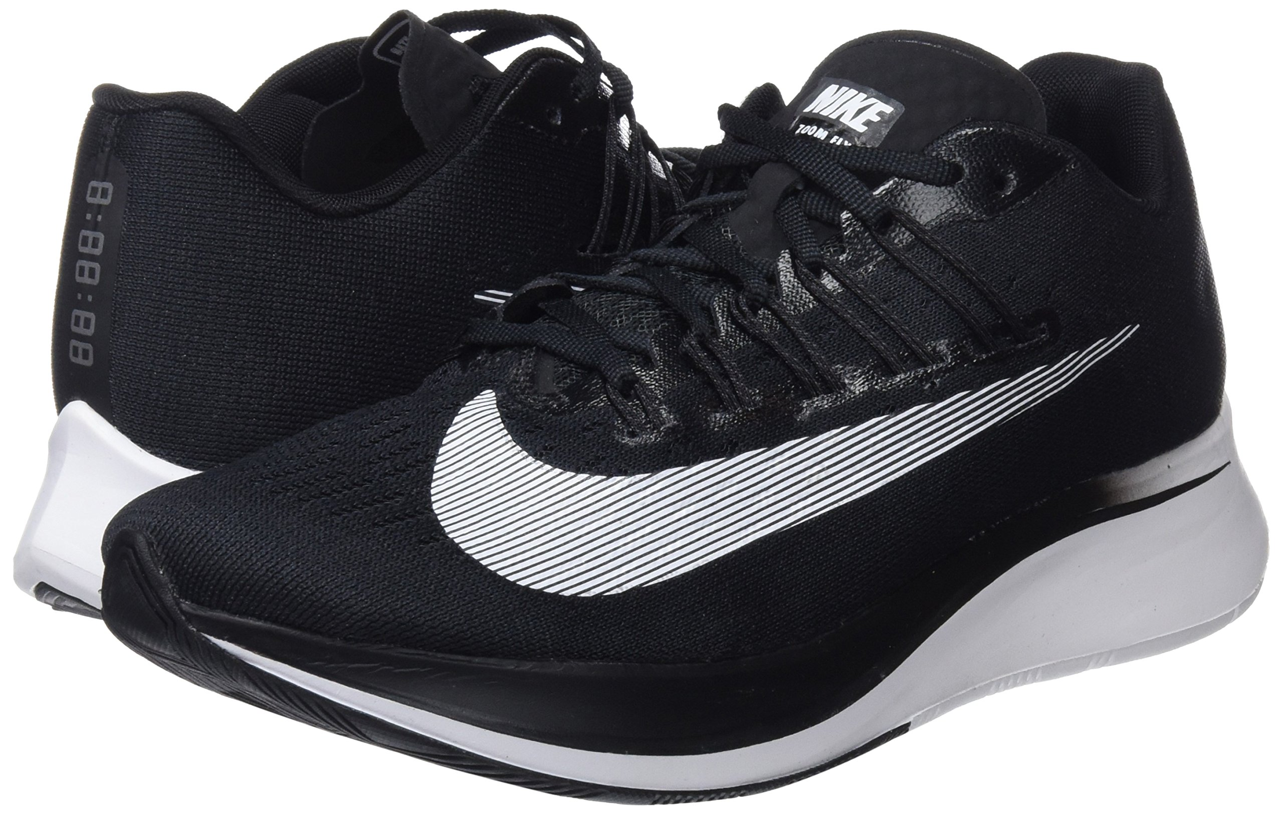 NIKE Women's WMNS Zoom Fly, Black/White, 9 M US by NIKE (Image #5)
