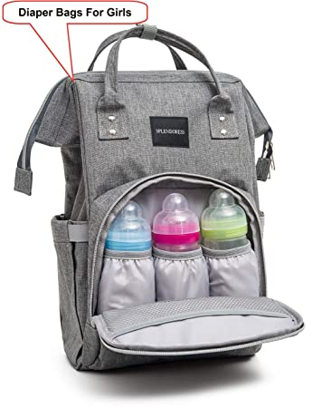 a9d628ba1c9c Diaper Bag for Dad Girls and Boys - Baby Backpack with Free Changing Pad -  Waterproof Maternity...