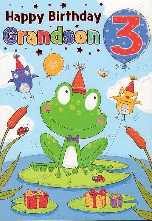 Tarjeta de cumpleaños - Feliz cumpleaños Nieto 3: Amazon ...