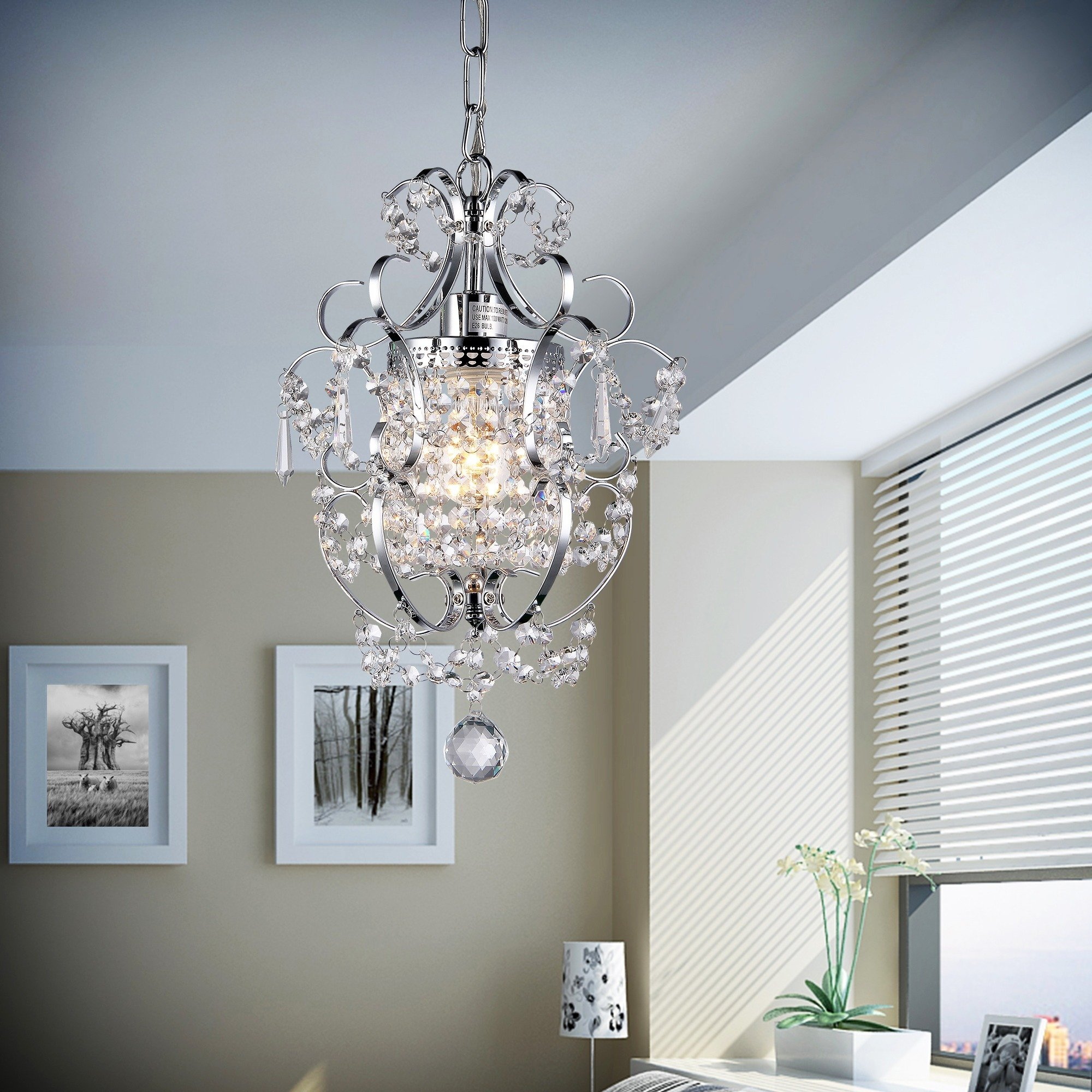 Whse of Tiffany RL4025 Jess Crystal Chandelier, 1 11'' x 15'', Chrome by Whse of Tiffany (Image #2)