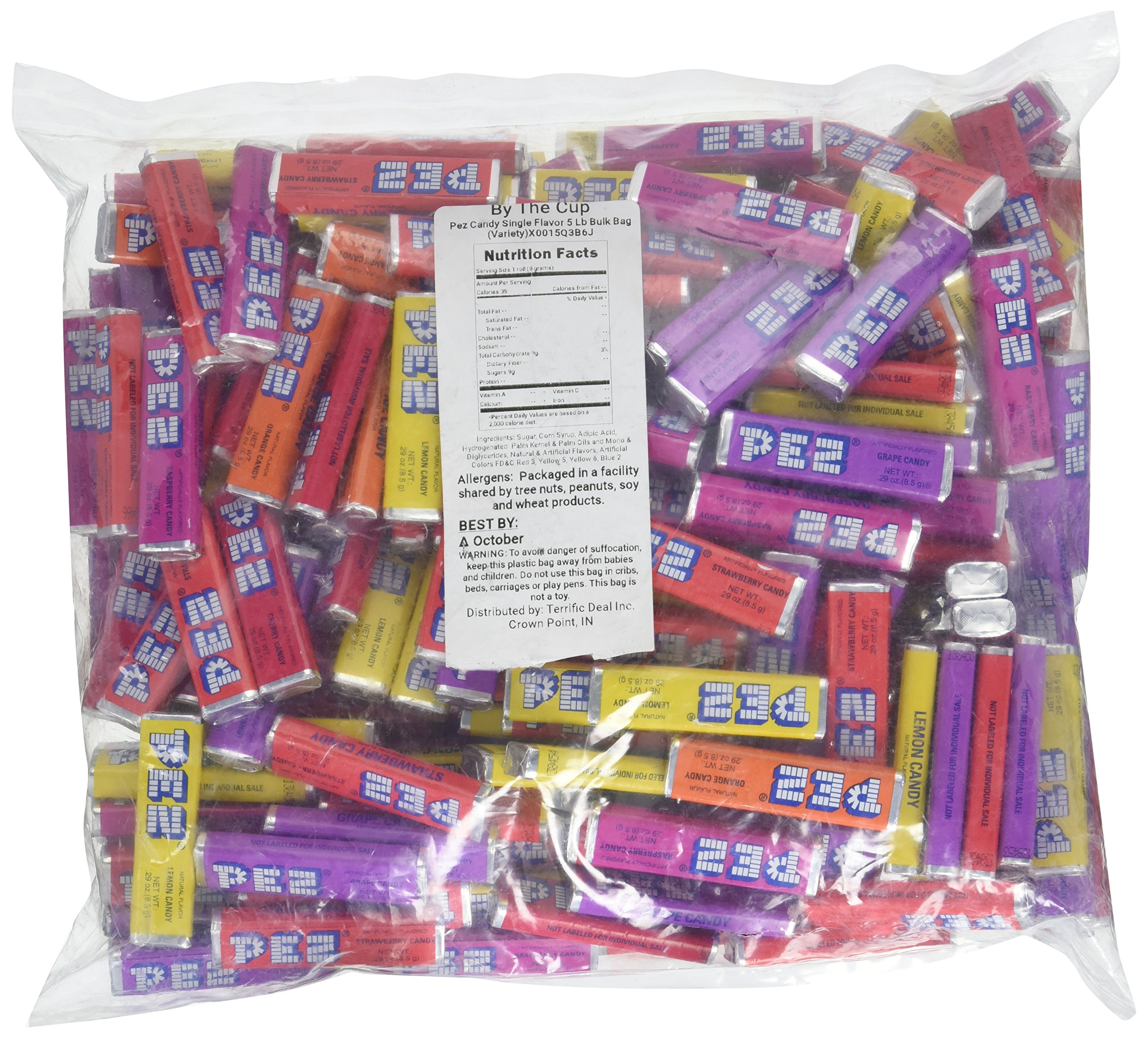 Pez Candy Single Flavor 5 Lb Bulk Bag (Variety) by PEZ Candy