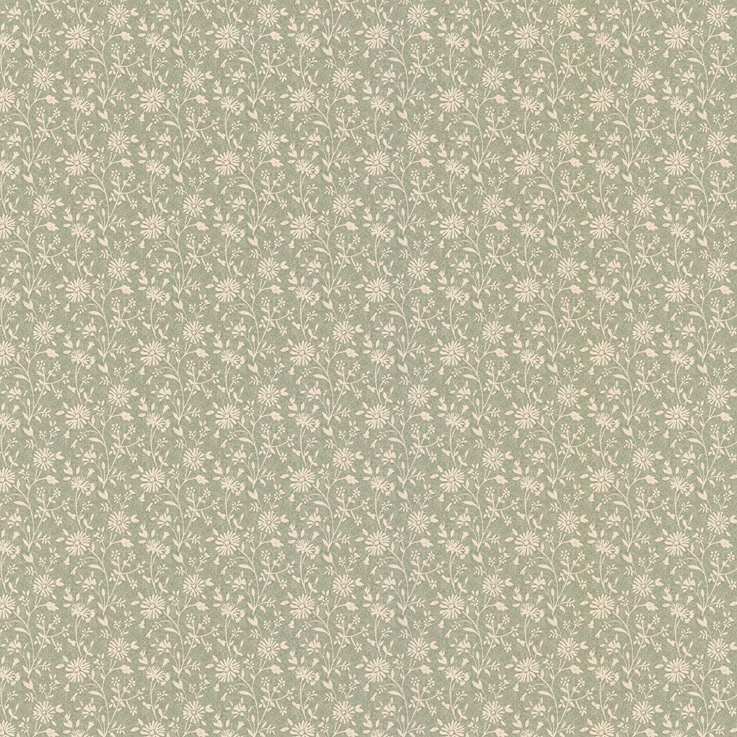 Brewster 413 58501 Janice Country Floral Wallpaper Green