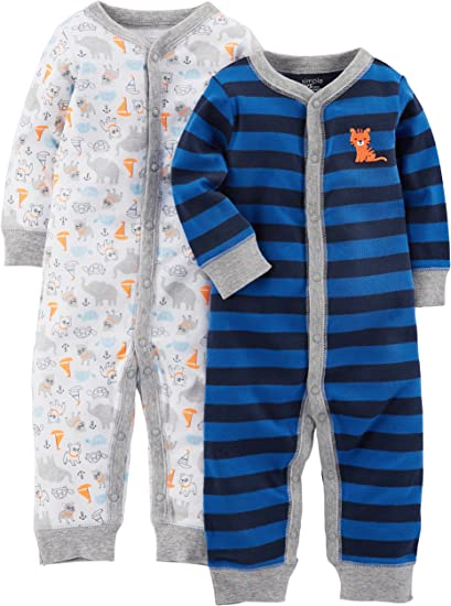 Simple Joys by Carters 2-Pack Fleece Footed Sleep and Play Infant-and-Toddler-Sleepers Unisex beb/é