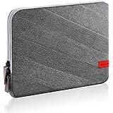 """deleyCON Tablet-Tasche / Schutzhülle / Etui / Case für Tablets und eBook-Reader bis 10,1"""" (25,7cm) aus Nylonstoff mit Zubehörfach - Innenfutter aus Fleece - grau"""