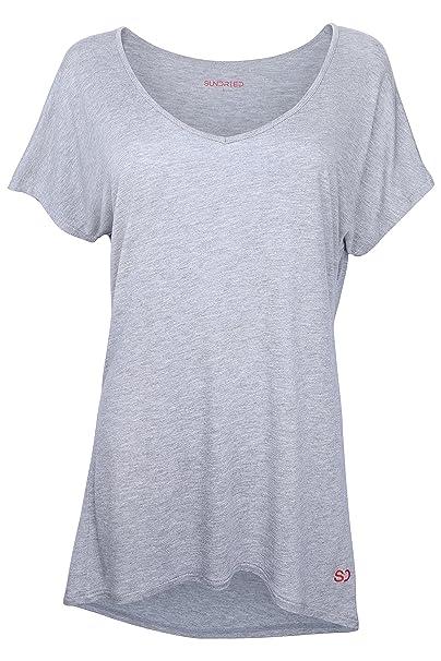 Sundried Camiseta Holgada para Mujeres para Deporte Yoga Gimnasio Entrenamientos de Ethical Activewear Designer Relajante Cómoda Holgada Extra Suave: ...