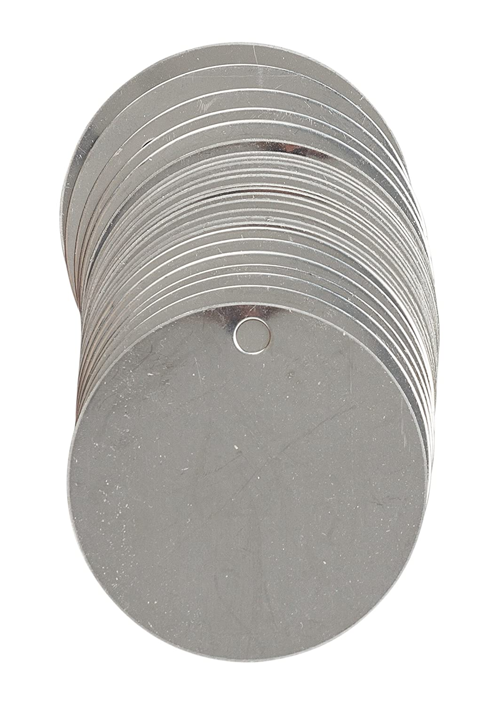 Stainless Steel 2 diameter 2 diameter 2 diameter 2 diameter Brady 44402 Stock Blank Stainless Steel Tags