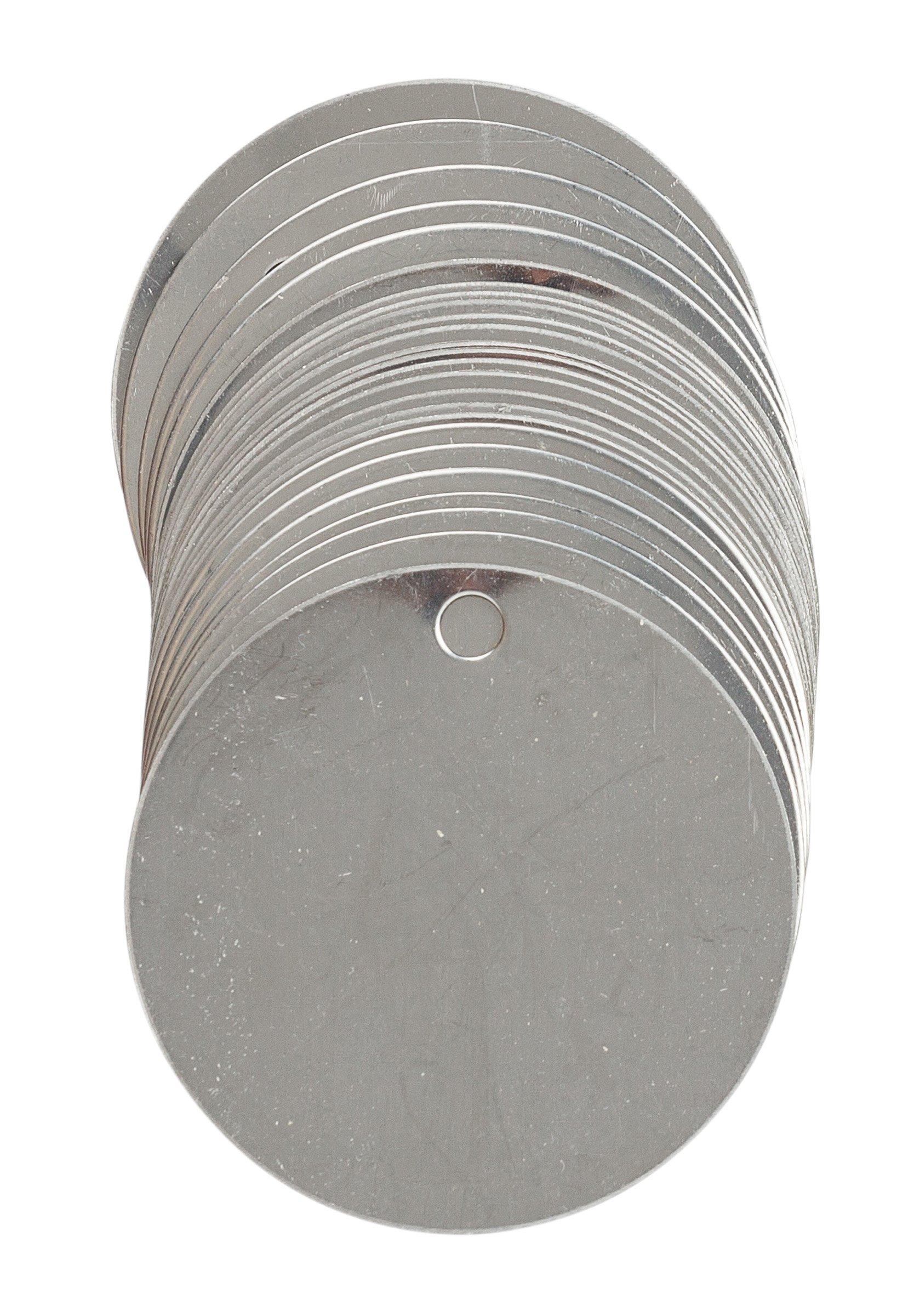 Brady 44400 Stock Blank Stainless Steel Tags, Stainless Steel, 1 1/2'' diameter 1 1/2'' diameter