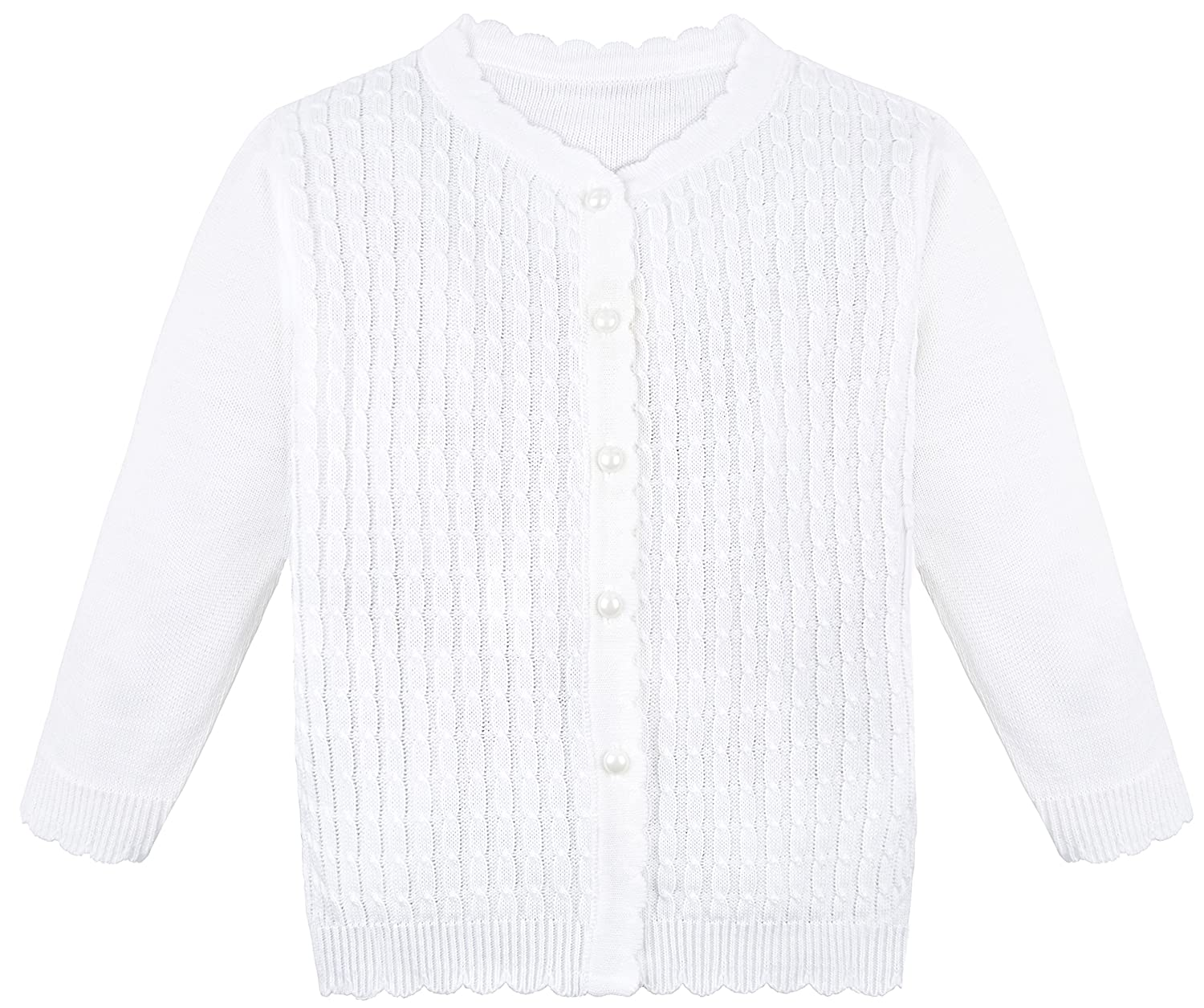 Lilax Little Girls' Cable Knit Cardigan Sweater 216
