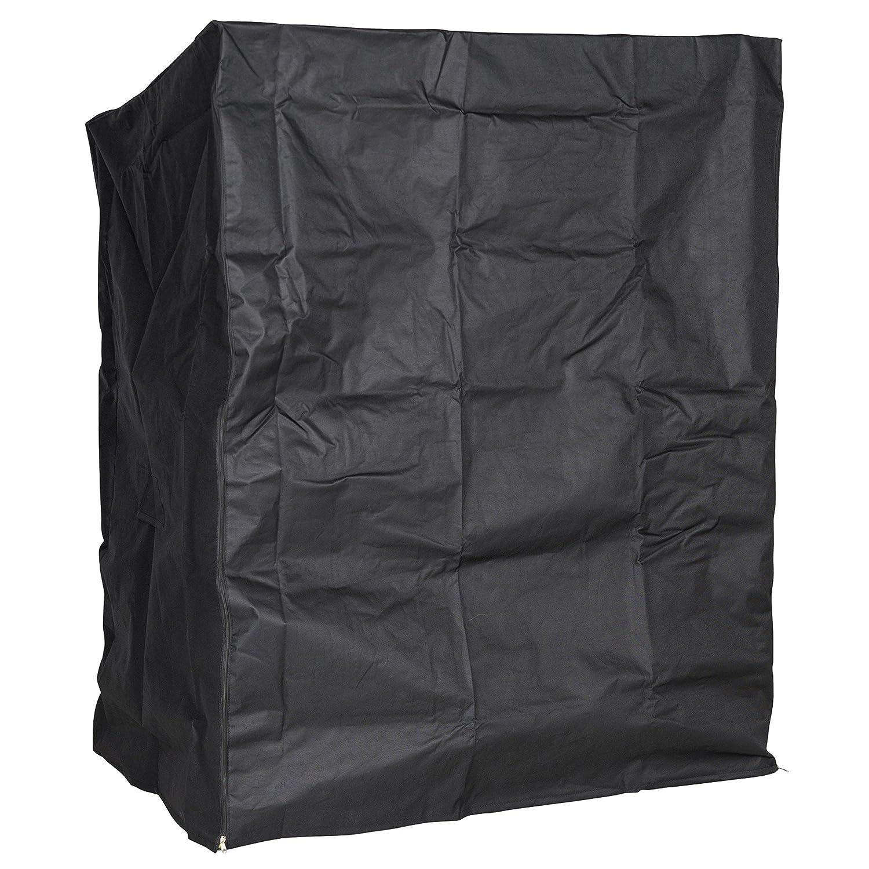 PREMIUM Abdeckhaube für Strandkorb, Segeltuch schwarz, LILIMO ®