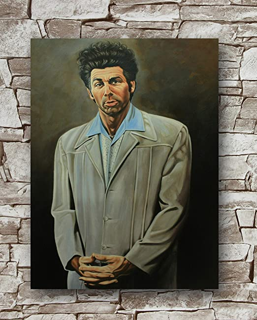 The Kramer Portrait Seinfeld Faux Frame TV Poster 24x36 inch