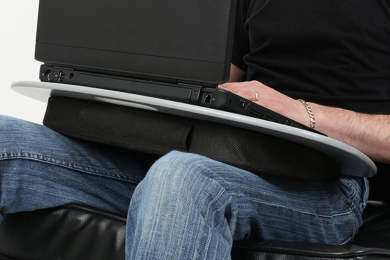 Premier Housewares - Bandeja con cojín para ordenador portátil (7 x 59 x 40 cm), color gris: Amazon.es: Hogar