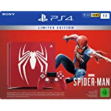 PlayStation 4 - Konsole (1TB) Limited Edition Spider-Man Bundle inkl. 1 DualShock 4 Controller, rot