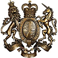 Design Toscano DB383103 Royal Coat of Arms of Great Britain Wall Sculpture