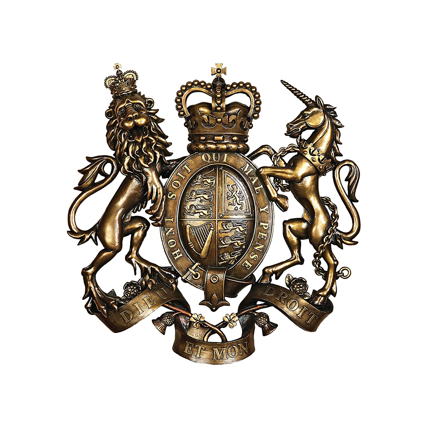 Design Toscano Royal Coat of Arms of Great Britain Wall Sculpture DB383103