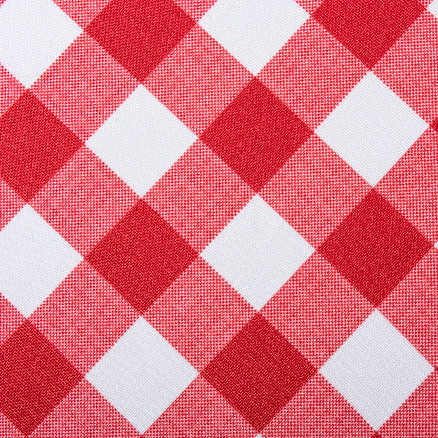 DII Spring & Summer Outdoor Tablecloth, Spill Proof and Waterproof with Zipper and Umbrella Hole, Host Backyard Parties, BBQs, & Family Gatherings - (60x120'' - Seats 10 to 12) Red Check by DII (Image #2)