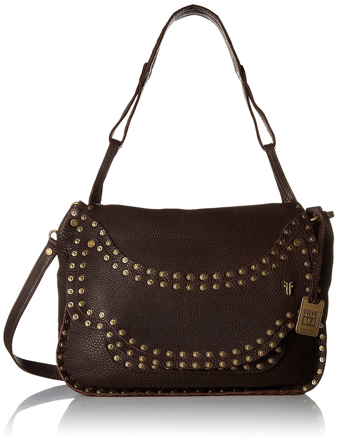 FRYE Nikki Nail Head Flap Crossbody Handbag