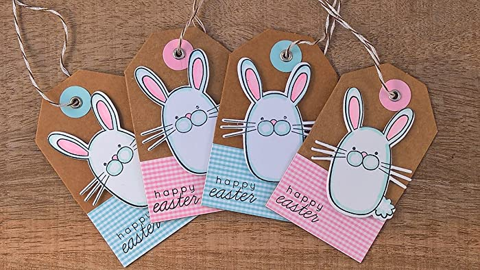 Amazon easter basket gift tags set of 4 easter hang tags easter basket gift tags set of 4 easter hang tags bunny tags happy negle Image collections