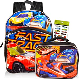 Fast Forward Hot Wheels Backpack Combo Set ~ Deluxe 16