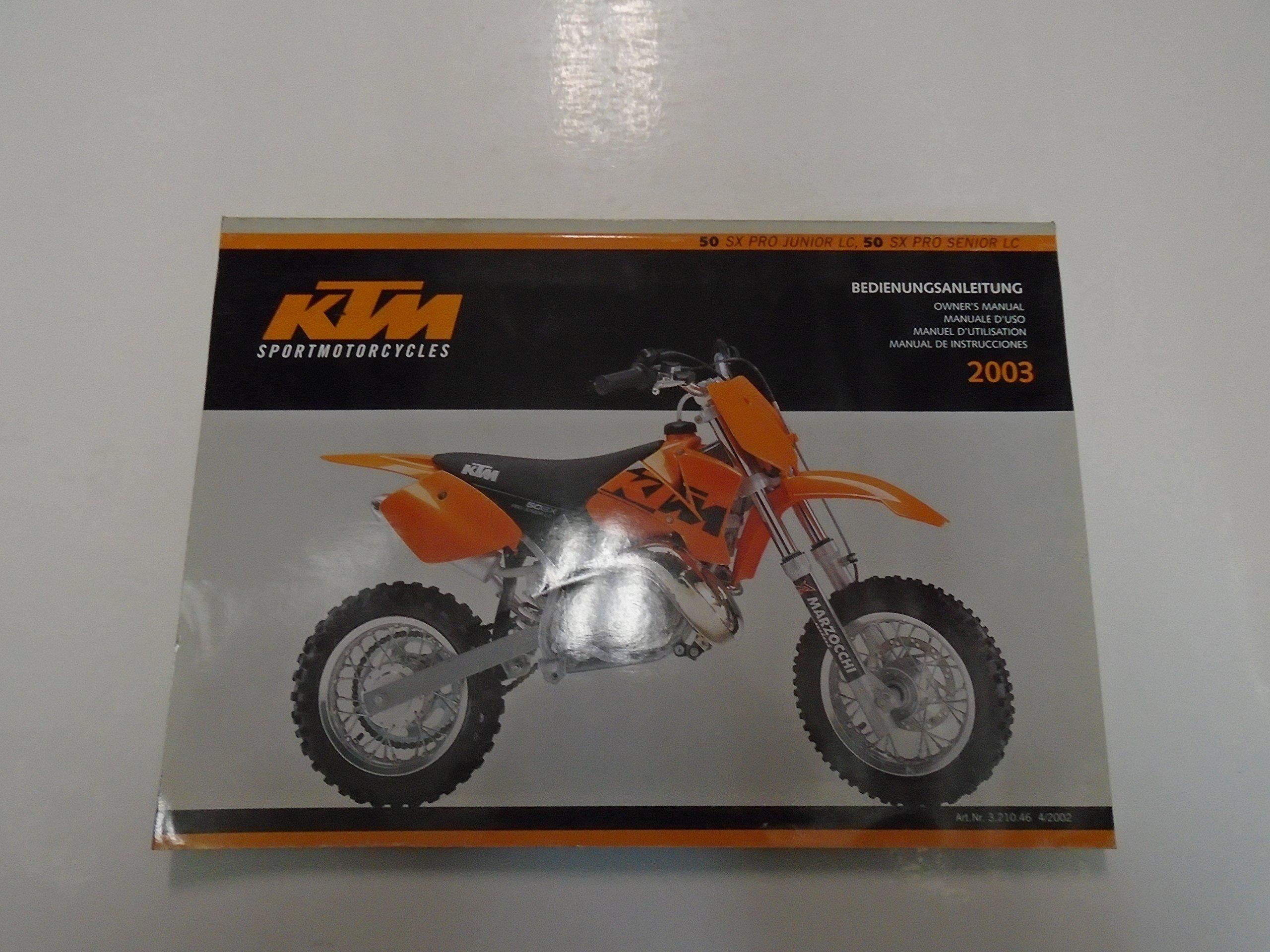 2003 ktm 50 sx pro junior lc 50 sx pro senior lc owners manual minor rh amazon com KTM 50 Junior Specs KTM 50 Sxs Parts