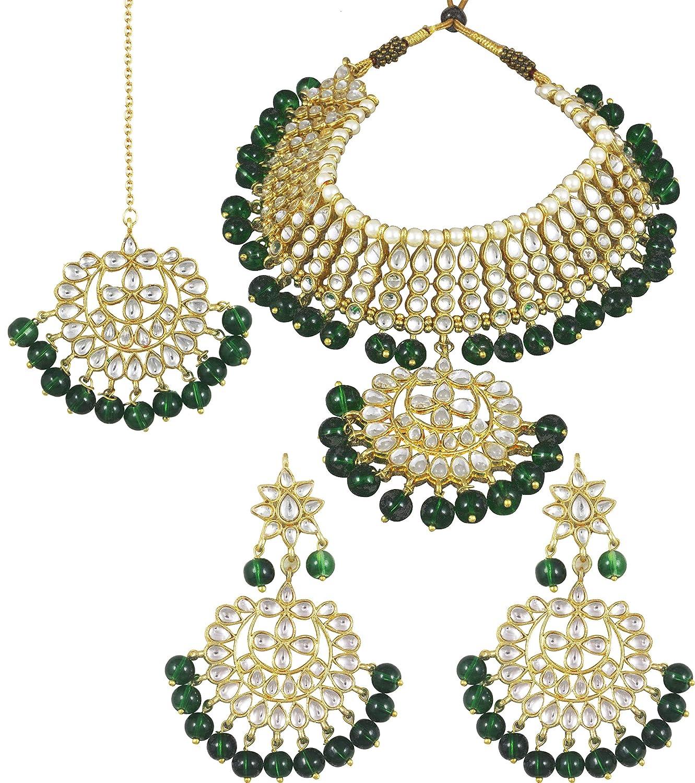 Karatcart 22K GoldPlated Partywear Traditional Kundan Pearl