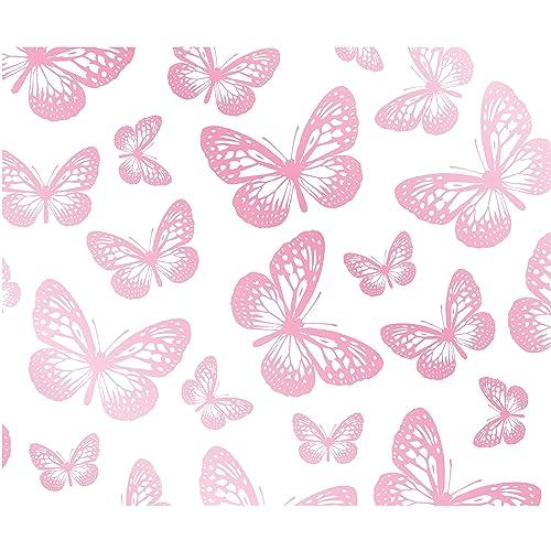 Pink Butterfly Wallpaper: Pink Butterfly Wallpaper: Amazon.co.uk
