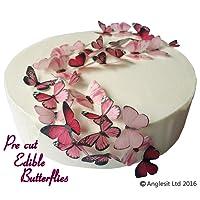 precortado hermosas mariposas comestibles PRECORTADAS de papel de arroz/Obleas pasteles postre decoraciones fiesta de