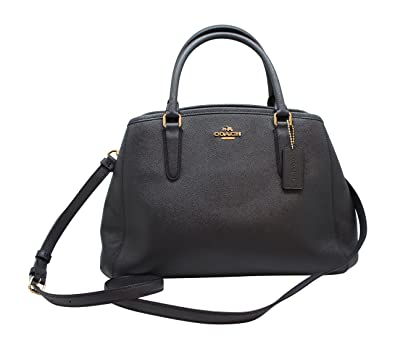 8c4382a4ab5f5 COACH F57527 SMALL MARGOT CARRYALL IN CROSSGRAIN LEATHER MIDNIGHT ...