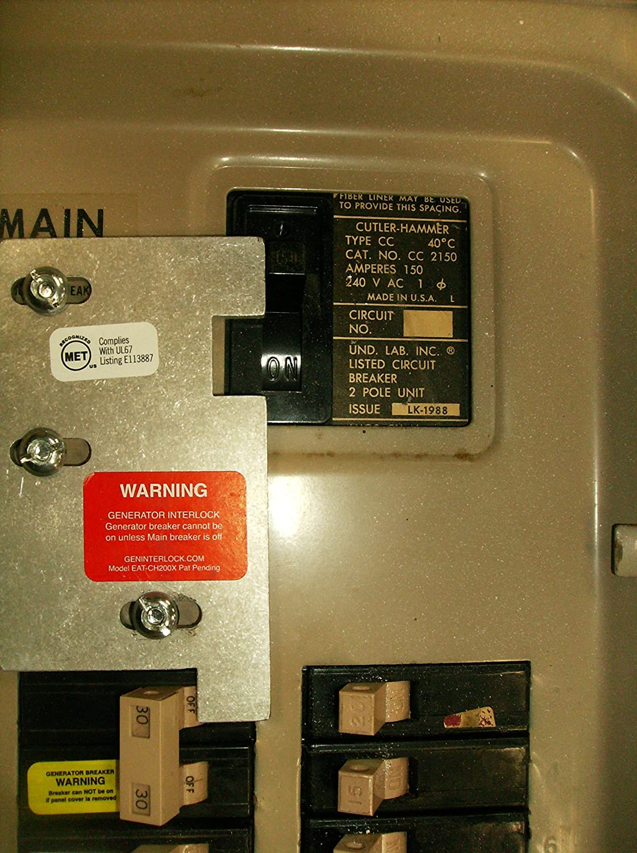 EAT-CH200XA Eaton or Cutler Hammer Generator Interlock Kit Vertical ...
