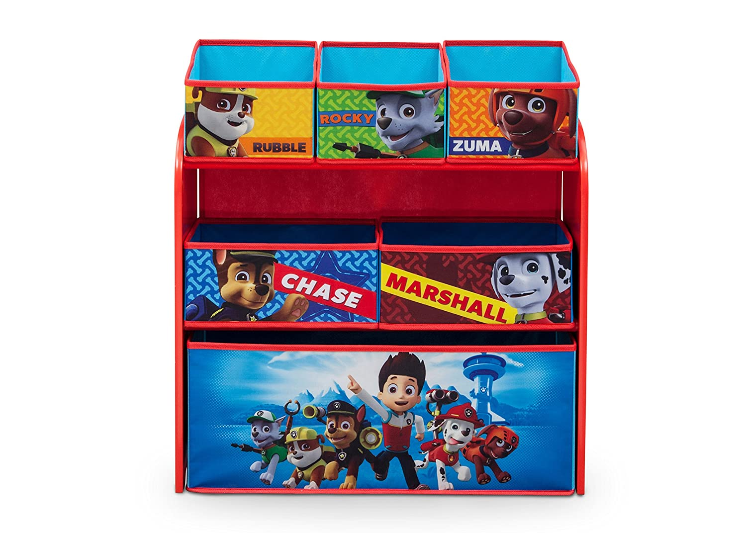Nick Jr. Delta Children Multi-Bin Toy Organizer, Paw Patrol: Delta ...