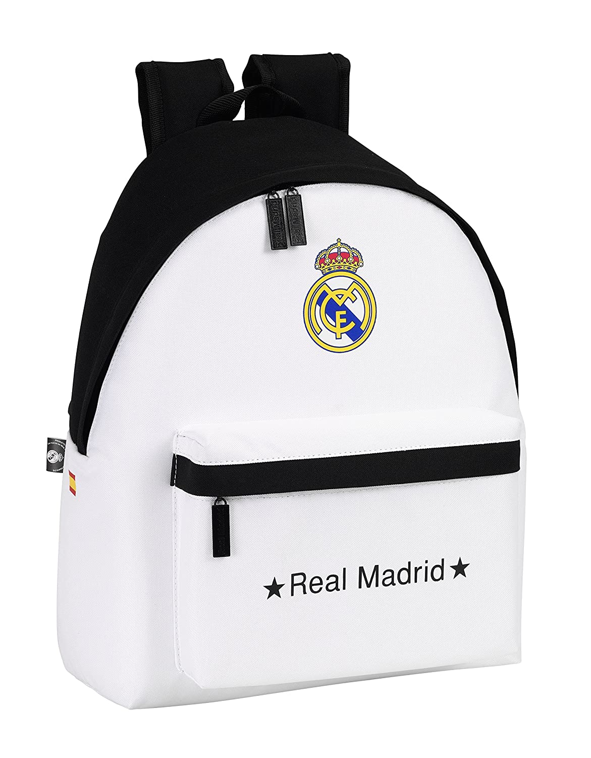 Real Madrid - Mochila, 32 x 40 cm, Color Blanco (SAFTA 641526774): Amazon.es: Equipaje
