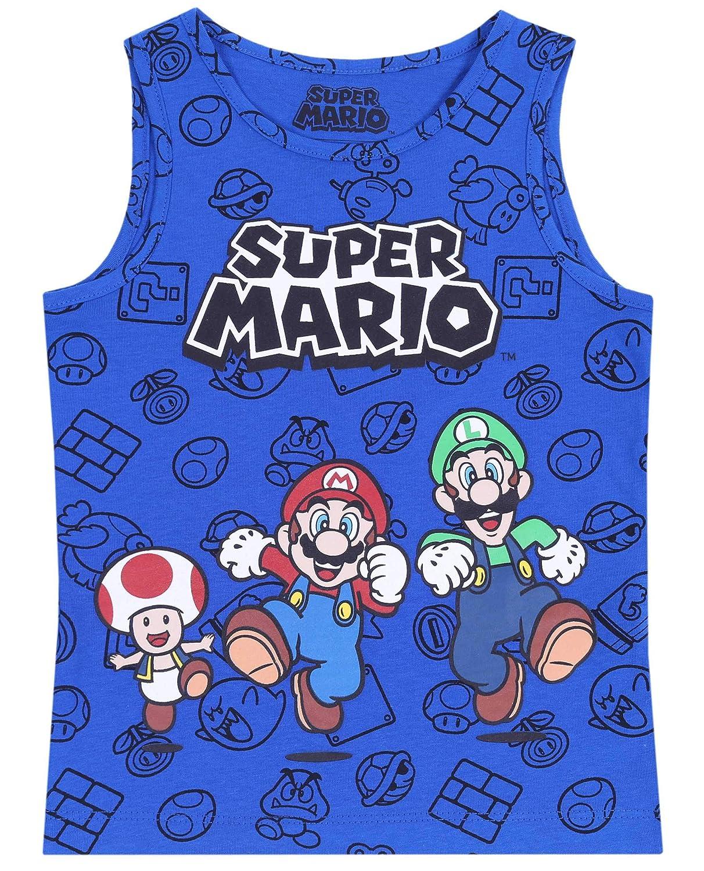 Maglietta Blu Super Mario