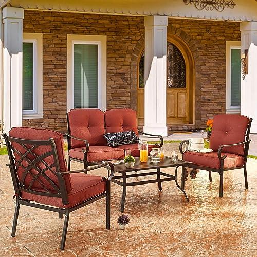 PatioFestival Patio Furniture Set 4 Piece Outdoors Sofa