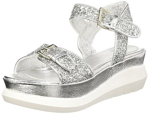 BATA 6648216 Sandali con Cinturino alla Caviglia, da Donna, Colore Argento, Taglia 38