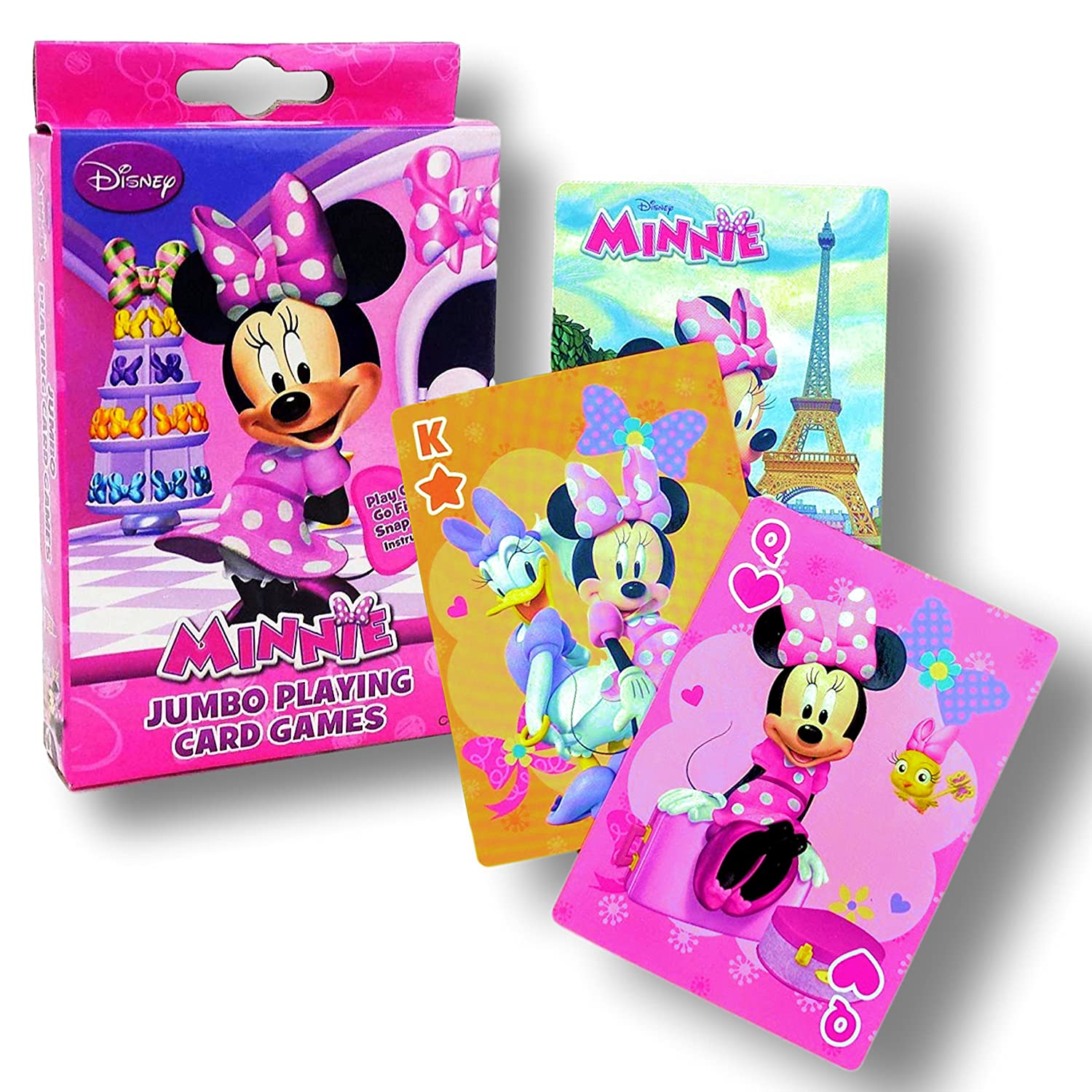 Amazon.com: Card Games for Kids (Minnie Mouse Jumbo Playing Cards ...