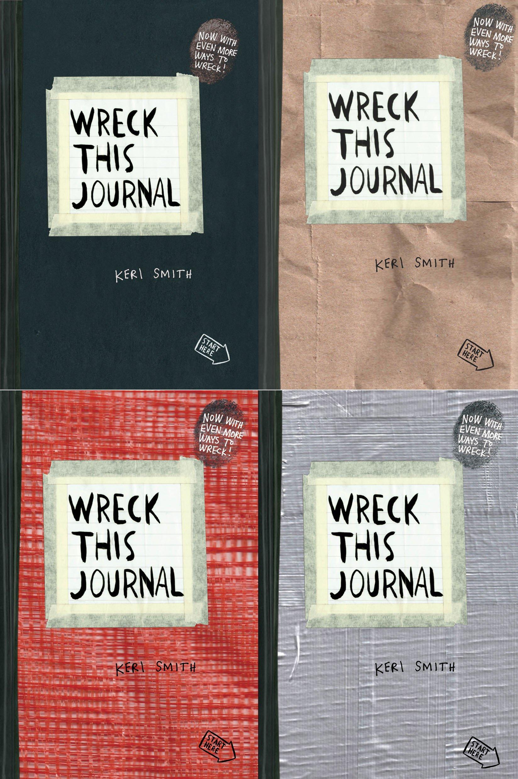 wreck this journal 4 volume set