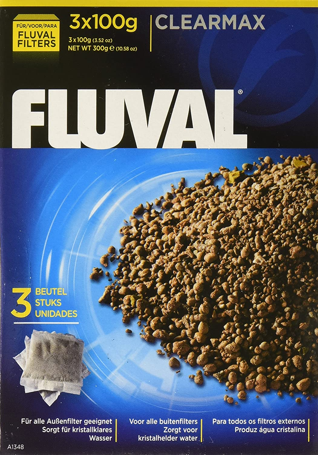 Fluval Clearmax Phosphate Remover Filters, 3.5 Ounces - 3-Pack A1348