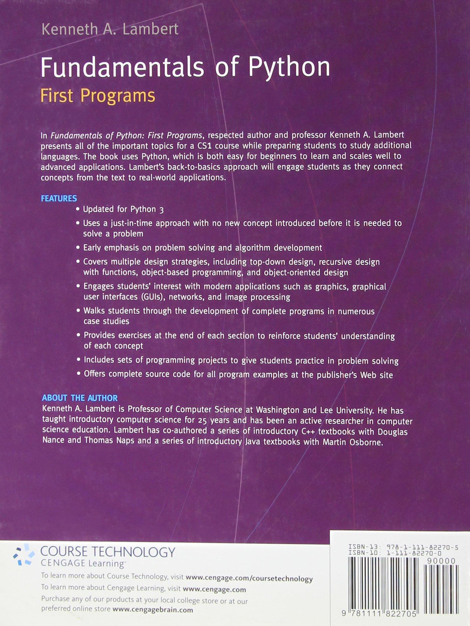 First python lambert programs of fundamentals pdf ken
