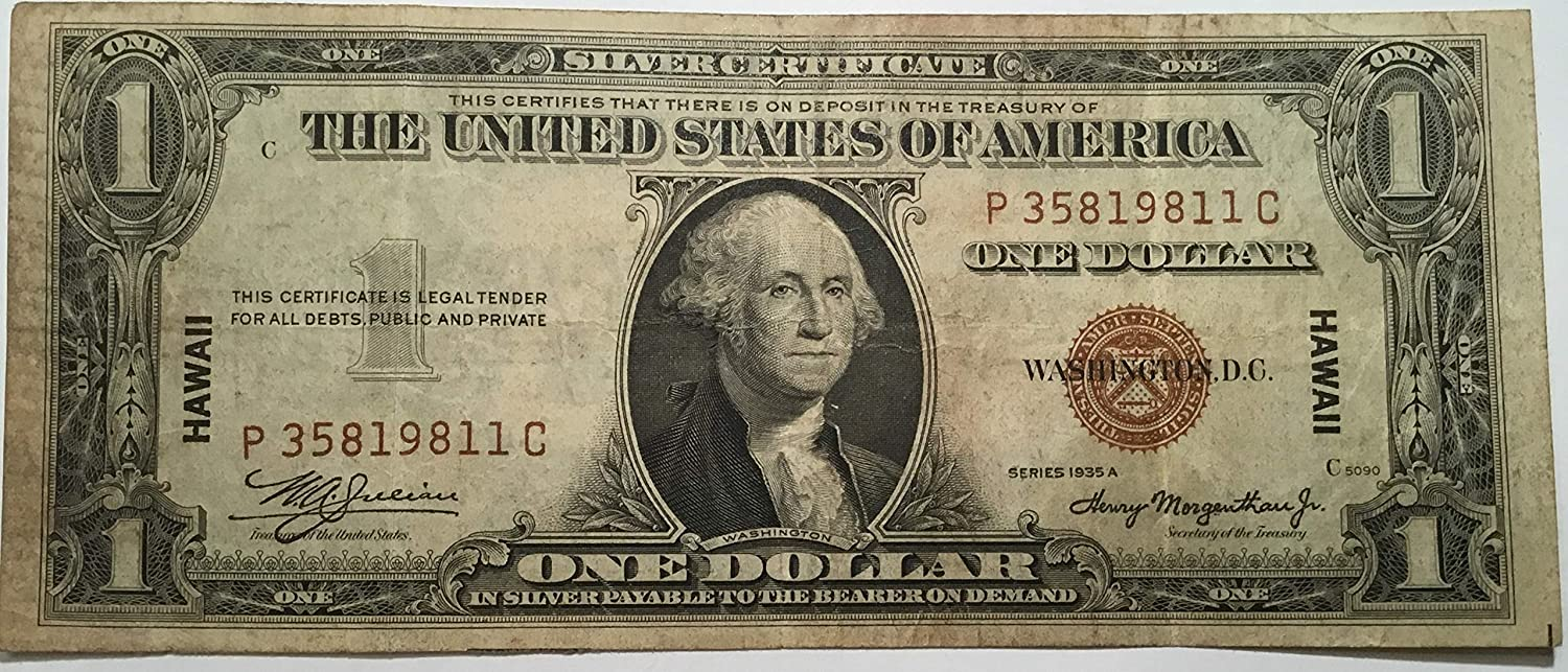 Amazon 1935 A 1 One Dollar Hawaii Silver Certificate Brown