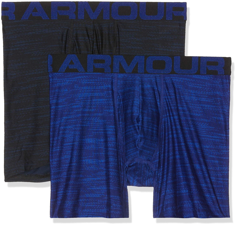 Under Armour Men's Tech 6in 2 Pack Novelty Boxer Jock