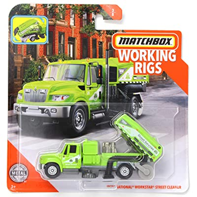 Matchbox Working Rigs International Workstar Street Cleaner, Green: Toys & Games