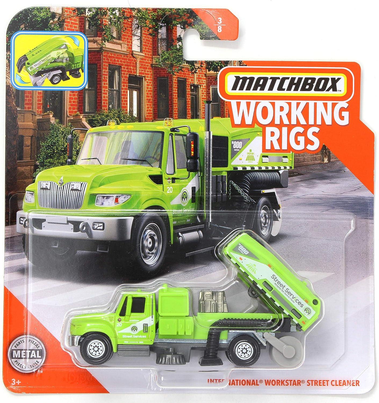 Matchbox Working Rigs International Workstar Street Cleaner, Green