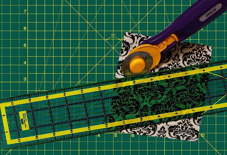 44 x 29 cm Imperial//Metric 17 x 11 Zoll ANSIO 4016 Schneidematte Selbstheilende A3 Doppelseitige 5 Schichten sassend f/ür Kunst Gr/ün N/ähen Gr/ün