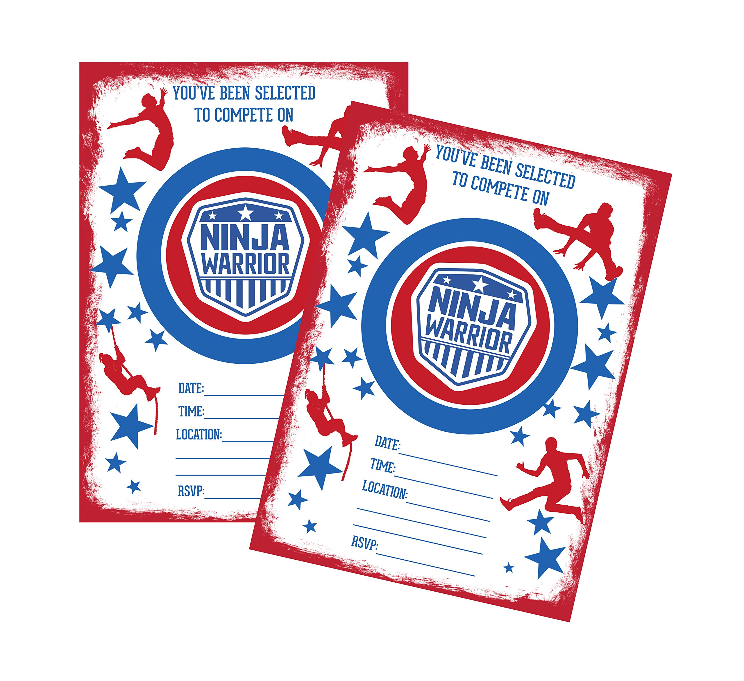 Ninja Warrior Themed Party Supply Package Bundle Set (Invitation)