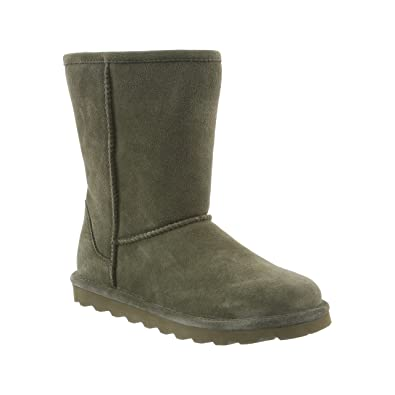 Sheepskin Short Ankle Suede Boots - NeverWet Stain and Liquid Repellent - Elle by