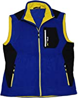 Ralph Lauren RLX Mens Polo Athletic Running Gym Fleece Vest Blue Yellow  Black